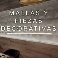 Mallas y piezas decorativas